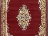 4 X 6 Rubber Backed area Rugs Country Traditional 4 Feet by 6 Feet 4 X 6 Mashad Design