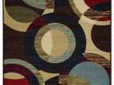 4 X 6 Rubber Backed area Rugs Hammam Maxy Home Contemporary Circles area Rug