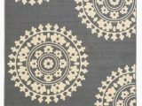 4 X 6 Rubber Backed area Rugs Rubber Backed Non Skid Non Slip Gray Ivory Color Medallion Design area Rug