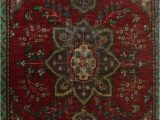 """48 X 48 area Rug E Of A Kind Hyacinthe Hand Knotted 3 2"""" X 4 8"""" Wool Red area Rug"""