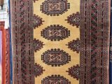 48 X 66 area Rug Wool and Silk Blend area Rug with Multiple Geometric