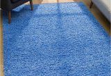 4×6 area Rugs Blue Malibu Collection Modern Shaggy area Rug 4 X 6 Blue