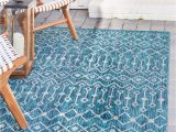 4×6 Blue Outdoor Rugs 4 X 6 Outdoor Trellis Rug