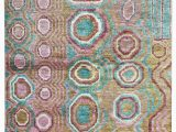 """5 by 9 area Rugs E Of A Kind Ecco Hand Knotted 1920s Pink Blue 5 9"""" X 8 9"""" Hemp area Rug"""