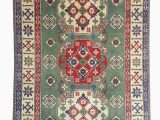 5 by 9 area Rugs Hand Knotted 5 9×3 9 Wool Kazak area Rug 181×119 Cm oriental Carpet