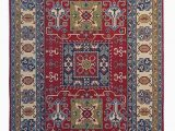 5 by 9 area Rugs Hand Knotted 9 7×6 5 Wool Kazak area Rug 297×199 Cm oriental Carpet