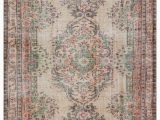 """5 by 9 area Rugs Turkish Vintage area Rug 5 9"""" X 9 5"""" 69 In X 113 In"""