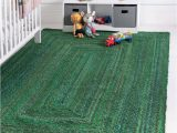 5 Ft X 7 Ft area Rug 5 X 7 Natural Jute Green area Rug for Living Room Braided
