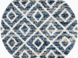 5 Round Rug Blue Bridgeport Home Lochcort Shag Loc2 Blue 5 X 5 Round area