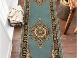 """5 X 7 area Rugs for Kitchen Well Woven Medallion oriental Persian area Rug Blue 5×7 5 3"""" X 7 3"""""""