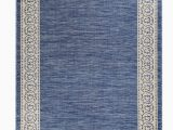 "5 X 7 Outdoor area Rugs Meyerwood Floral Shag 5 X 7 7"" Denim Blue Indoor Outdoor area Rug"