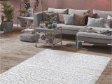 5 X 7 solid Color area Rugs Mod Arte Silky Shag Collection area Rug Modern & Contemporary Style solid Color Design soft & Plush White