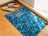 54 Inch Bath Rug Christmas Starshine Printed Floor Rug