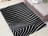 54 Inch Bath Rug Zebra Striped Pattern Bath Floor Rug