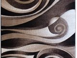 5ft by 7ft area Rug Modern area Rug 5 Ft 2 In X 7 Ft 3 In Sculpture 258 Chocolate