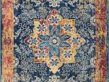 """5×7 area Rugs at Lowes Well Woven Cora Floral Medallion Vintage Blue area Rug 5×7 5 3"""" X 7 3"""" soft Plush Modern oriental Carpet"""