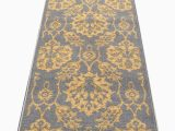5×7 Latex Backed area Rugs Braud Non Slip Backed Gold area Rug
