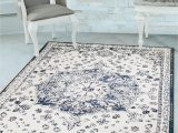 5×7 Latex Backed area Rugs Details About Navy Vintage Medallion oriental Transitional area Rug Non Slip Latex Backing