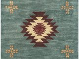 """6 by 10 area Rugs Rizzy Home Collection Wool area Rug 2 6"""" X 10 Gray Blue Rust Burgundy Tan Khaki southwest Tribal"""