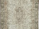 """6 by 10 area Rugs Vintage Turkish Hand Knotted area Rug 6 9"""" X 10 1"""" 81 In X 121 In"""