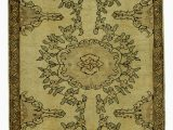 """6 by 6 area Rug Beige Brown All Wool Hand Knotted Vintage area Rug 3 4"""" X 6 6"""" 40 In X 78 In"""