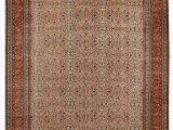"""6 by 6 area Rug E Of A Kind Ferrero Hand Knotted 6 6"""" X 9 7"""" Wool Cream Red Ochre area Rug"""