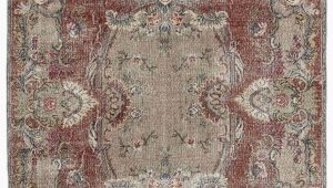 "6 by 6 area Rug Turkish Vintage area Rug 6 6"" X 10 3"" 78 In X 123 In"