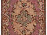 """6 by 6 area Rug Turkish Vintage area Rug 6 6"""" X 9 4"""" 78 In X 112 In"""