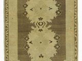 """6 X 5 area Rug Beige Brown All Wool Hand Knotted Vintage area Rug 3 2"""" X 5 6"""" 38 In X 66 In"""