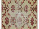 "6 X 5 area Rug Turkish Vintage area Rug 2 6"" X 5 9"" 30 In X 69 In"