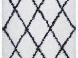 6×9 Black and White area Rug solarte Hand Tufted White area Rug