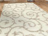 "7 by 10 area Rug Cozy Contemporary Scroll Cream White 7 10"" X 10 Indoor Shag area Rug"