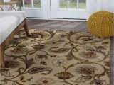 """7 by 10 area Rug Details About Beige Floral Transitional area Rug Leaves 8×10 Carpet Actual 7 10"""" X 10 3"""""""