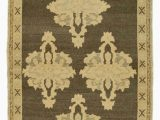 """7 by 11 area Rugs Beige Brown All Wool Hand Knotted Vintage area Rug 2 11"""" X 7 4"""" 35 In X 88 In"""