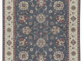 """7 by 11 area Rugs E Of A Kind Hand Knotted Gray Ivory 9 X 11 7"""" Wool area Rug"""