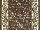 7 Feet Round area Rugs Kas Rugs 7311 Cambridge Floral Ribbons Round area Rug 7 Feet 7 Inch Plum Ivory