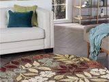 7 Feet Round area Rugs Tayse Kalea Brown 8 Foot Round area Rug for Living Bedroom or Dining Room Transitional Floral