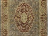 """7 X 14 area Rug E Of A Kind sona Hand Knotted Red Beige 11 7"""" X 14 Wool area Rug"""