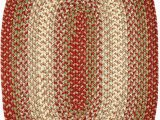 7 X 9 Oval area Rugs Super area Rugs Hartford 7 X 9 Oval Braided Rug Rusty Red & Green Indoor Outdoor Rug Primitive Washable Carpet