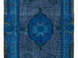 7×9 Blue area Rug 5×9 Blue Over Dyed Rug 5134