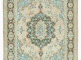 7×9 Blue area Rug 7×9 Blue Turkish Vintage Wool Large area Rug 12999