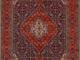 7×9 Blue area Rug Tabriz Persian Geometric Navy Blue Red area Rug 7×9