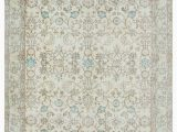 """8 by 7 area Rugs Beige Turkish Vintage area Rug 5 5"""" X 8 7"""" 65 In X 103 In"""