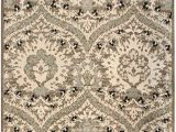 """8 by 7 area Rugs Superior Designer Augusta Collection area Rug Modern area Rug 8 Mm Pile Scalloped Floral Design with Jute Backing Light Blue 2 7"""" X 8"""