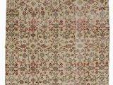 """8 by 7 area Rugs Turkish Vintage area Rug 4 7"""" X 8 7"""" 55 In X 103 In"""