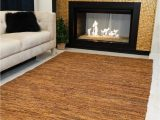 8 Feet by 10 Feet area Rugs Natural area Rugs Handmade Adore Collection 8 Feet by 10 Feet Brown Leather Rug 8 X 10""
