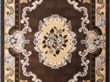 8 Feet by 10 Feet area Rugs Traditional area Rug Design D 121 Chocolate 8 Feet X 10