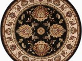 8 Foot Round Black area Rug Well Woven Timeless Abbasi Black Traditional oriental 8 Ft