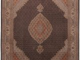 """8 Foot Square area Rug Mahi Beige Square Hand Knotted 6 7"""" X 8 6"""" area Rug 254"""