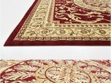8 Foot Square area Rug Persian Traditional Design Rugs Red 8 X 8 Feet Square